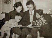 Gia đình ông Sun Yun-suan khi các con còn nhỏ.